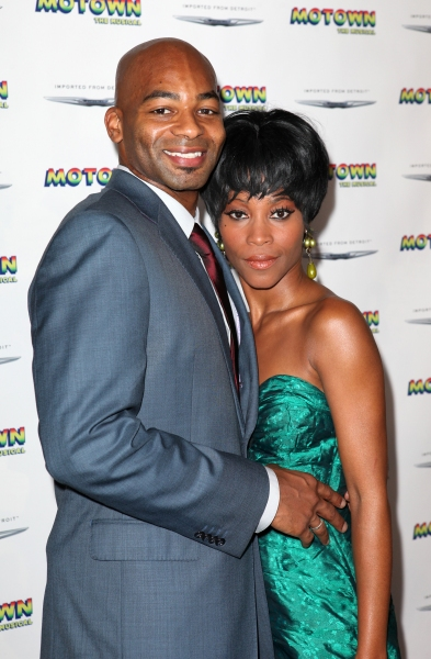 Brandon Victor Dixon and Valisia LeKae  at Inside the MOTOWN: THE MUSICAL Launch- Arrivals!