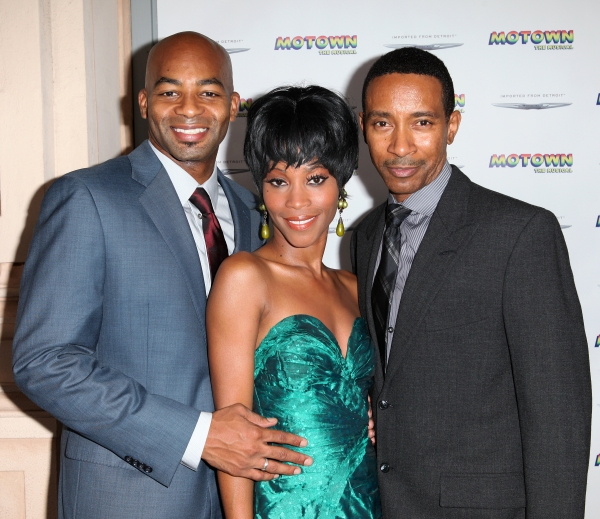 Brandon Victor Dixon, Valisia LeKae and Charles Randolph Wright  at Inside the MOTOWN: THE MUSICAL Launch- Arrivals!