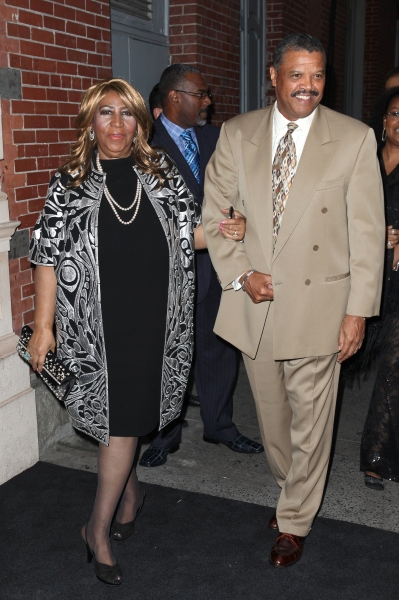 Aretha Franklin and William Wilkerson at Inside the MOTOWN: THE MUSICAL Launch- Arrivals!