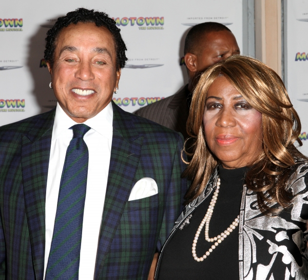 Smokey Robinson and Aretha Franklin  at Inside the MOTOWN: THE MUSICAL Launch- Arrivals!