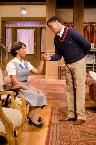 L to R: Candice D'Meza as Gracie Dunbar and Derrick Brent II as Bobby Green