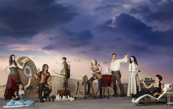 Meghan Ory as Red Riding Hood/Ruby, Emilie de Ravin as Belle, Robert Carlyle as Rumpl Photo