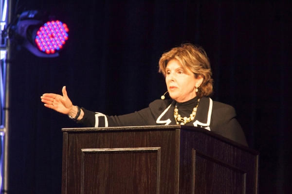 Gloria Allred addresses the more than 5000 conference attendees