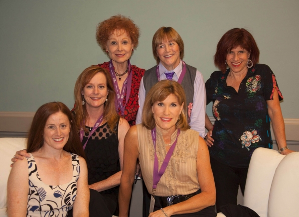 CWC speakers Kami Cotler, Mary McDonough, Carol Lawrence, Judy Norton, Geri Jewell and Judy Carter gather in the greenroom