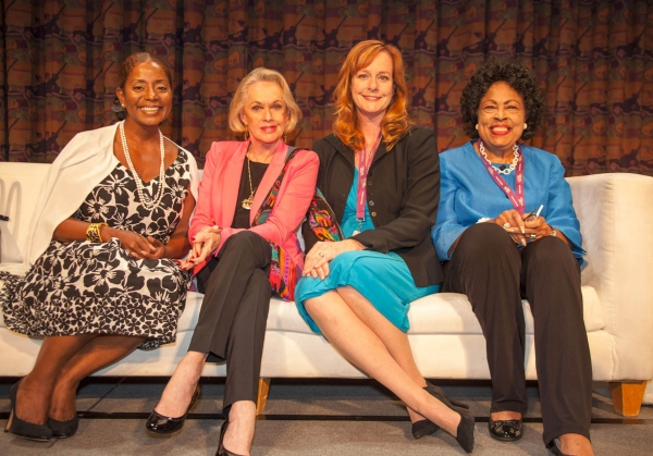 Women Influencing Legislation panel - Donzaleigh Abernathy, Tippi Hedren, Mary McDonough and The honorable Congresswoman, Diane Watson at Stars of Stage, Screen, TV & More Gather in Support of CA Women's Conference
