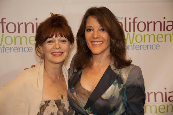 Frances Fisher and Marianne Williamson