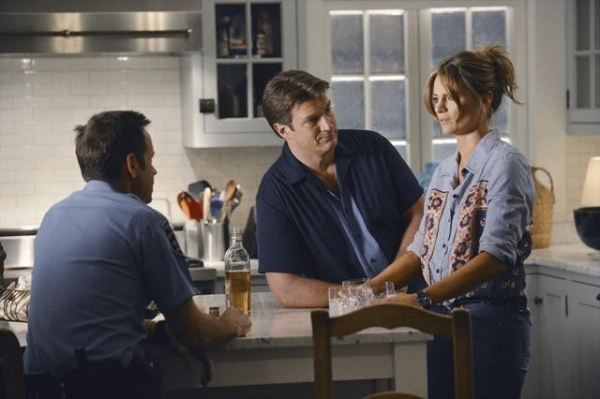 DAVID BURKE, NATHAN FILLION, STANA KATIC at Sneak Preview of CASTLE's October 15 Episode