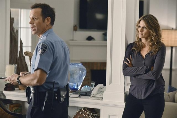 DAVID BURKE, STANA KATIC at Sneak Preview of CASTLE's October 15 Episode