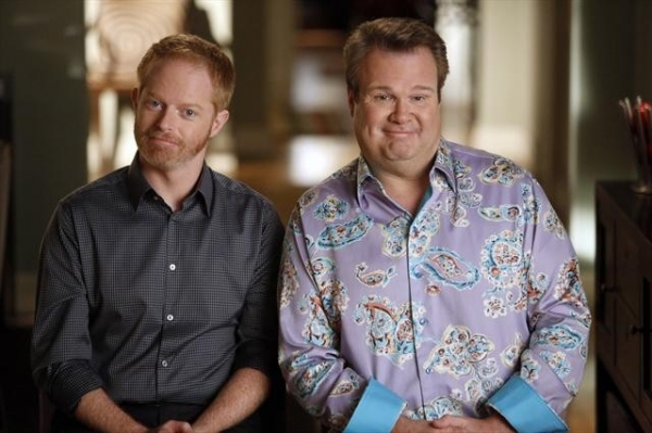 JESSE TYLER FERGUSON, ERIC STONESTREET at Sneak Preview at MODERN FAMILY's 10/17 Episode