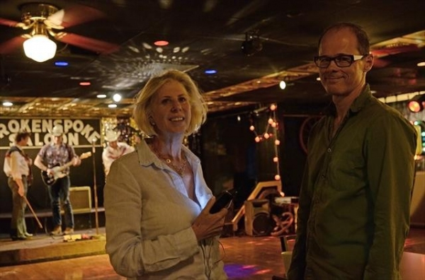 CALLIE KHOURI (CREATOR), JOHN CARRAFA (CHOREOGRAPHER) at Behind the Scenes of NASHVILLE on 10/17