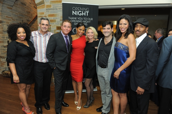 Cast member Kimberly Hebert Gregory, Geffen Artistic Director Randall Arney and cast members Spencer Garrett, Sanaa Lathan, Amanda Detmer, Mather Zickel, Merle Dandridge and Kevin Carroll