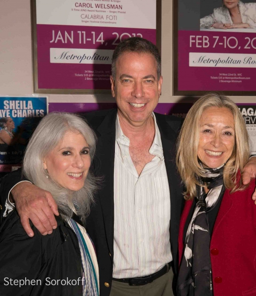 Jamie deRoy, Bernie Furshpan, Eda Sorokoff at Frank Dain's THE MAGIC OF MATHIS at the Metropolitan Room