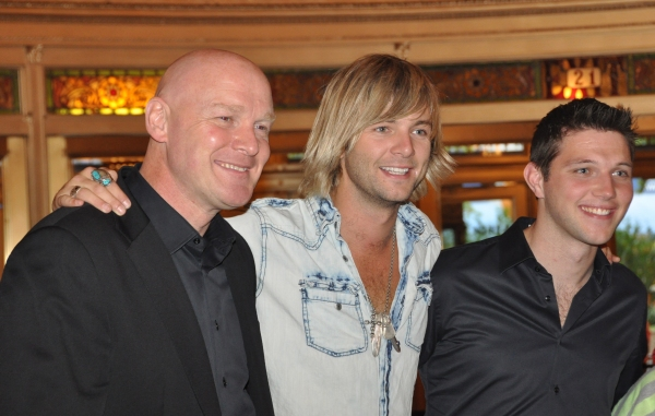 George Donaldson, Keith Harkin and Colm Keegan