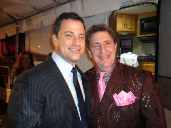 Jimmy Kimmel (L), Louis Prima Jr. (R) at 'Prima Notte' during Galbani Italian Feast of San Gennaro September 27. at Louis Prima Jr., Jimmy Kimmel and More at Galbani Italian Feast's PRIMA NOTTE in LA