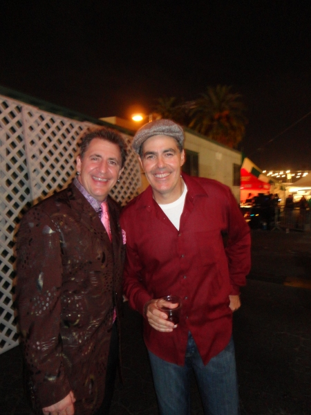 Louis Prima Jr. (L) and Adam Carolla (R)