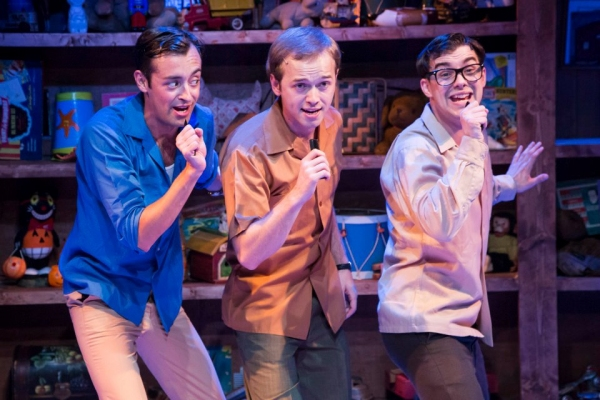 L to R: Dylan Godwin as Wally Patton, Adam Gibbs as Denny Varney, and Mark Ivy as EuG Photo