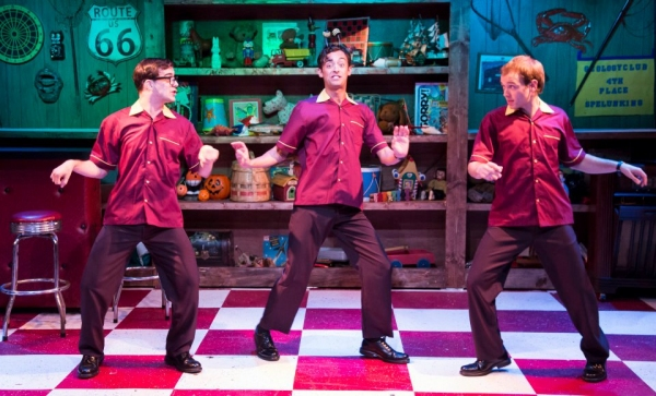 L to R: Mark Ivy as EuGene Johnson, Dylan Godwin as Wally Patton, and Adam Gibbs as D Photo