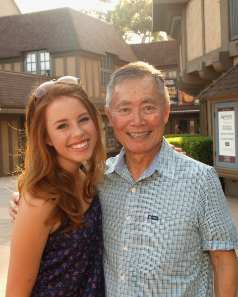 Allie Trimm and George Takei at Photo Exclusive: George Takei, Lea Salonga, Telly Leung and the Cast of ALLEGIANCE Meet Their Fans!