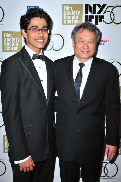 Suraj Sharma and Ang Lee at Benjamin Walker, Tony Danza Attend LIFE OF PI NY Premiere