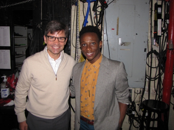 George Stephanopoulos & Gregory Haney  at Ann Harada & George Stephanopoulos Visit BRING IT ON