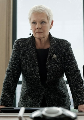 Judi Dench at First Look at Javier Bardem in SKYFALL