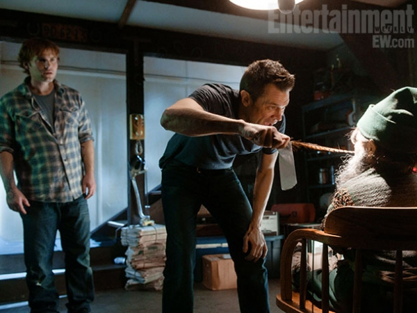 Seann William Scott and Johnny Knoxville at EW Releases New Photos of MOVIE 43's All-Star Cast