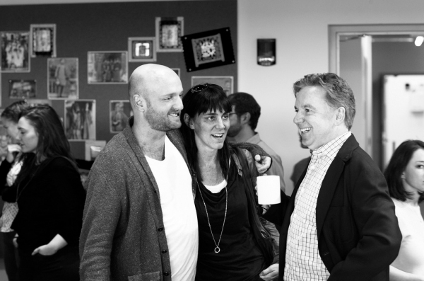 Matthew Maher. Leigh Silverman, James Haughton at In Rehearsal with the Cast of GOLDEN CHILD!