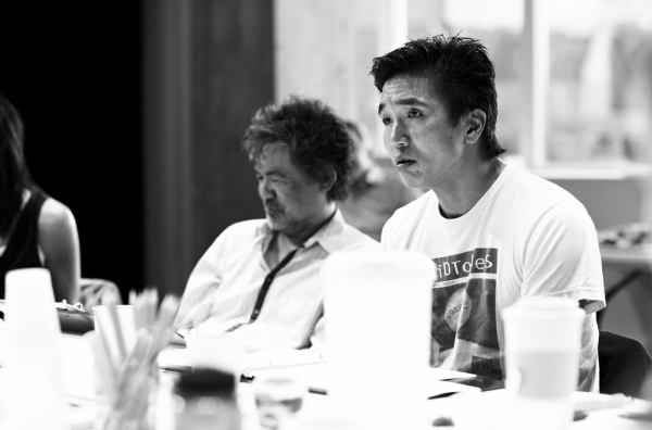 David Henry Hwang, Greg Watanabe at In Rehearsal with the Cast of GOLDEN CHILD!