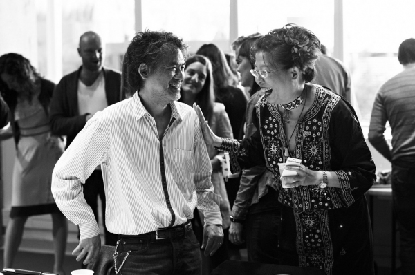 David Henry Hwang, Anita Yavich at In Rehearsal with the Cast of GOLDEN CHILD!