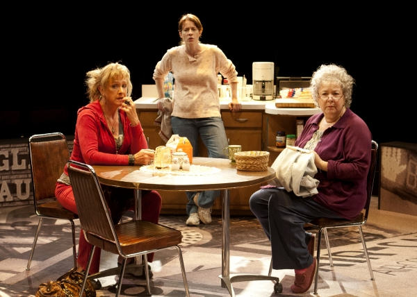 (from left) Carol Halstead as Jean, Eva Kaminsky as Margaret and Robin Pearson Rose as Dottie the San Diego Premiere of David Lindsay-Abaire's Good People, directed by Paul Mullins, Sept. 29 - Oct. 28, 2012 at The Old Globe. Photo by Henry DiRocco.