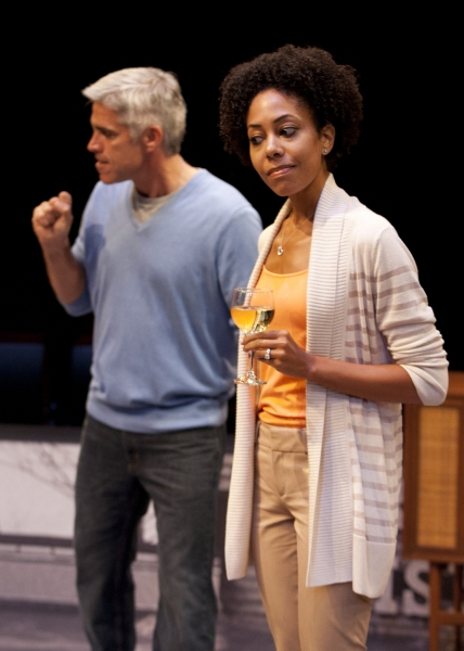 R. Ward Duffy as Mike and Nedra McClyde as Kate in the San Diego Premiere of David Lindsay-Abaire's Good People, directed by Paul Mullins, Sept. 29 - Oct. 28, 2012 at The Old Globe. Photo by Henry DiRocco.
