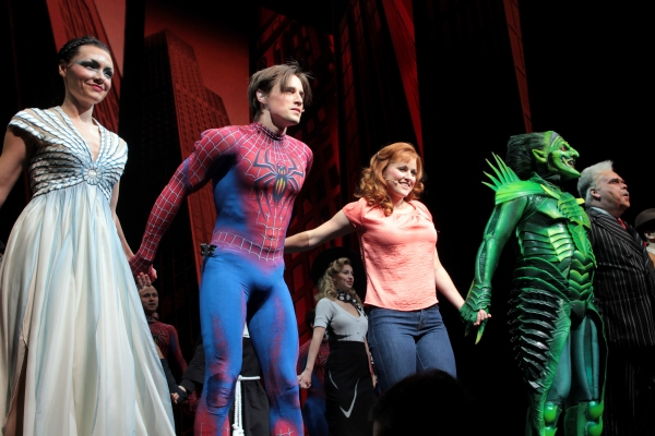 Katrina Lenk, Reeve Carney, Rebecca Faulkenberry, Robert Cuccioli, Michael Mulheren at SPIDER-MAN Welcomes Crew of USS Michael Murphy