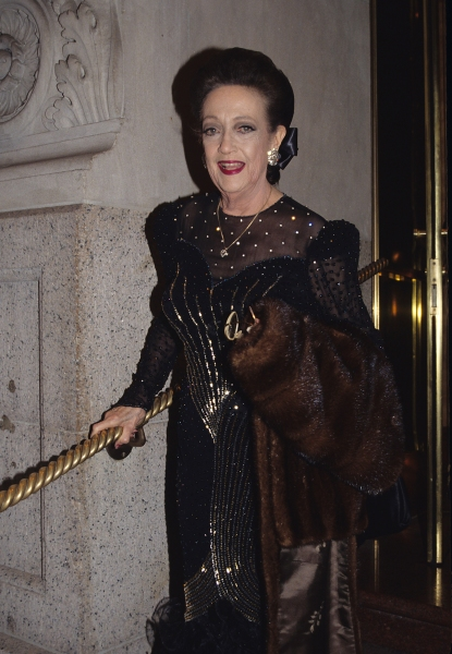 Dorothy Lamour photographed at the Plaza Hotel in New York City. 1988.