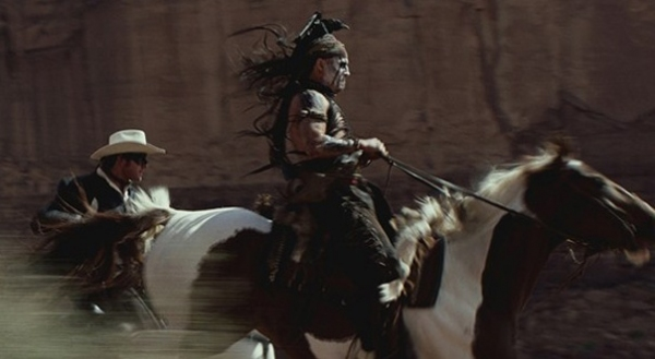 Johnny Depp at New Images from THE LONE RANGER Starring Johnny Depp, Armie Hammer