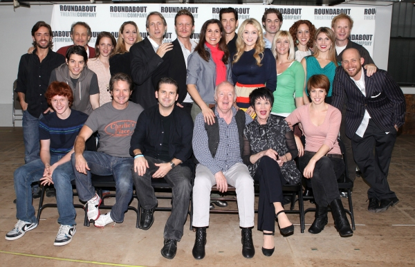 The Company: (Front Row L-R) Nicholas Barasch, Peter Benson, Andy Karl, Jim Norton, Chita Rivera, Kara Schmidt, (2nd row) Eric Sciotto, Jim Walton, Kyle Coffman, Jessie Mueller, Shannon Lewis, Gregg Edelman, Will Chase, Stephanie J. Block, Andy Karl, Bets at Photos: Stephanie J. Block, Will Chase, Chita Rivera & the Cast of THE MYSTERY OF EDWIN DROOD Meet the Press!