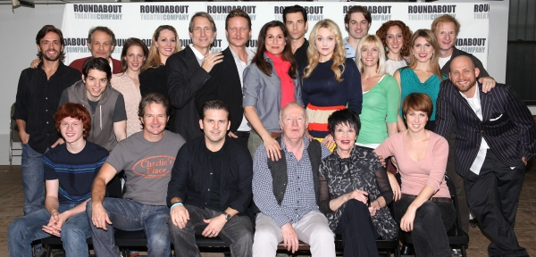 The Company: (Front Row L-R) Nicholas Barasch, Peter Benson, Andy Karl, Jim Norton, Chita Rivera, Kara Schmidt, (2nd row) Eric Sciotto, Jim Walton, Kyle Coffman, Jessie Mueller, Shannon Lewis, Gregg Edelman, Will Chase, Stephanie J. Block, Andy Karl, Bets
