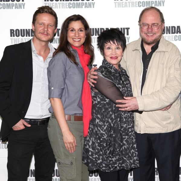Will Chase, Stepahnie J. Block, Chita Rivera and  Rupert Holmes at Photos: Stephanie J. Block, Will Chase, Chita Rivera & the Cast of THE MYSTERY OF EDWIN DROOD Meet the Press!