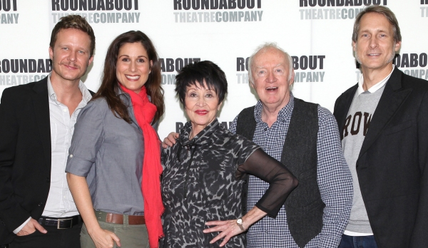 Will Chase, Stepahnie J. Block, Chita Rivera, Jim Norton and Gregg Edelman at Photos: Stephanie J. Block, Will Chase, Chita Rivera & the Cast of THE MYSTERY OF EDWIN DROOD Meet the Press!