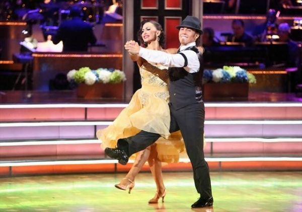 KARINA SMIRNOFF, APOLO ANTON OHNO   at Shots from Monday Night's DANCING WITH THE STARS!