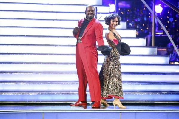 EMMITT SMITH, CHERYL BURKE    at Shots from Monday Night's DANCING WITH THE STARS!