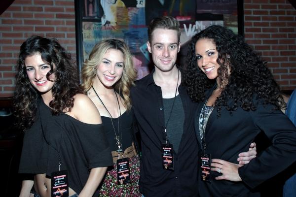 Tessa Alves, Cassie Silva, Cody Scott Lancaster, Jennifer Rias at ROCK OF AGES Hosts Military Night!