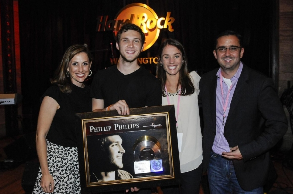 Photo Flash: Phillip Phillips Receives Gold & Platinum Certification for HOME