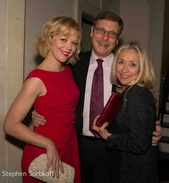 Emily Bergl, Barry Klienbort, Eda Sorokoff at Andrea Marcovicci Brings SMILE to Cafe Carlyle