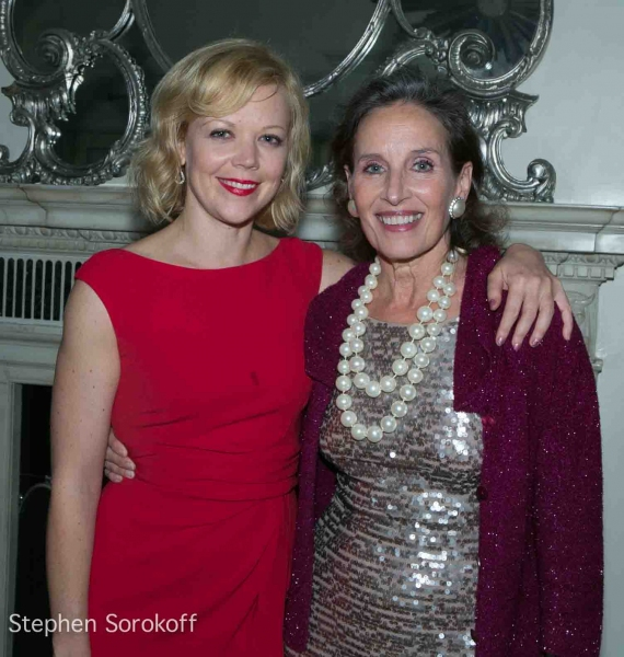 Emily Bergl & Andrea Mardcovicci at Andrea Marcovicci Brings SMILE to Cafe Carlyle