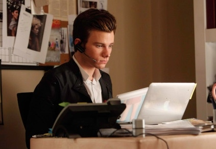 Chris Colfer at First Look - Tonight's 'The Break-Up' Episode on GLEE