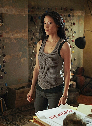 Lucy Liu at First Look - Tonight's ELEMENTARY on CBS