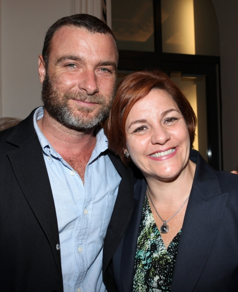 Liev Schreiber and City Council Speaker Christine Quinn