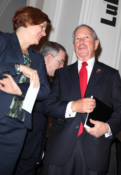 City Council Speaker Christine Quinn and Mayor Michael Bloomberg
