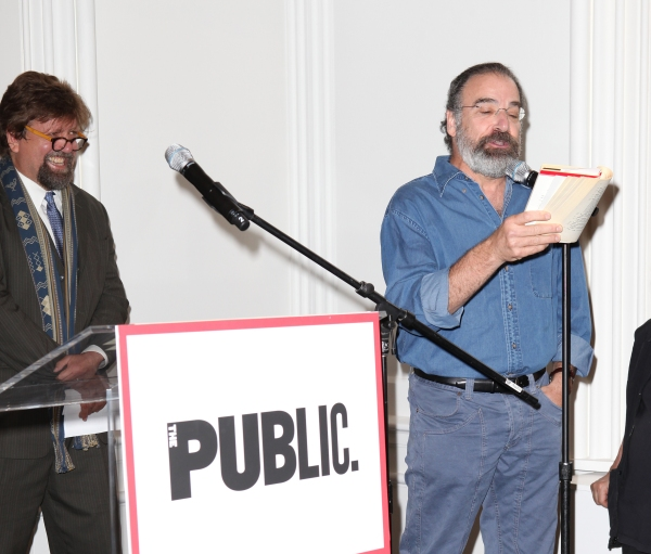 Oskar Eustis and Mandy Patinkin at Complete Vanessa Redgrave, Liev Schreiber, and More at Revitalized Public Theater Unveiling