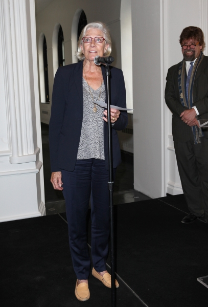 Vanessa Redgrave and Oskar Eustis at Complete Vanessa Redgrave, Liev Schreiber, and More at Revitalized Public Theater Unveiling